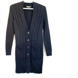MIKK Couture Cable Knit Button Cardigan
